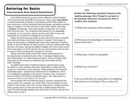 Free Printable 7th Grade Reading Comprehension Worksheets