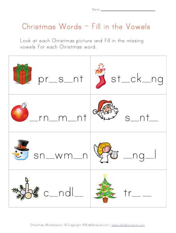 Free Printable Christmas Phonics Worksheets