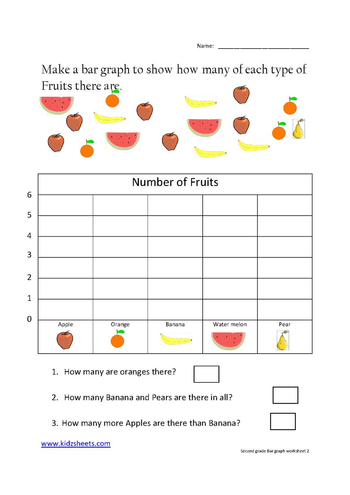 Free Printable Graph Worksheets Grade 2 Graph Worksheets For 2nd