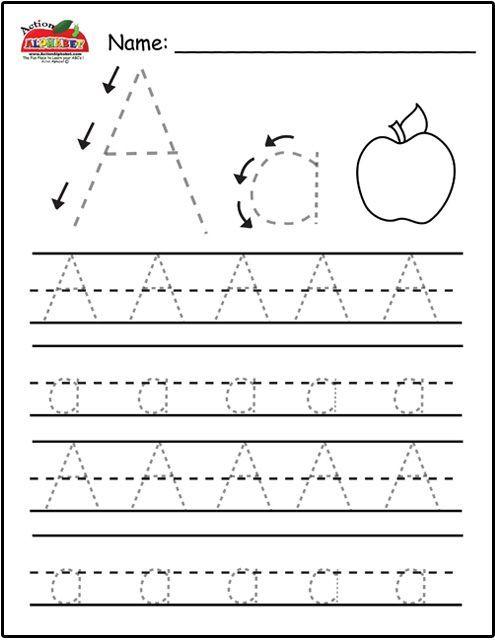 Free Printable Preschool Worksheets Tracing Letters Alphabet