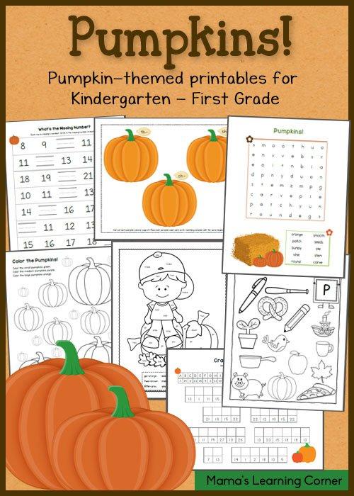 Free Pumpkin Worksheets For K