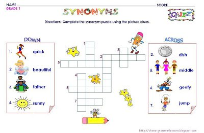 Free Worksheets For Grade 1 English Grammar