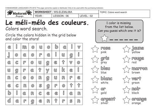 French Worksheets For Grade 3 Immersion 8237449