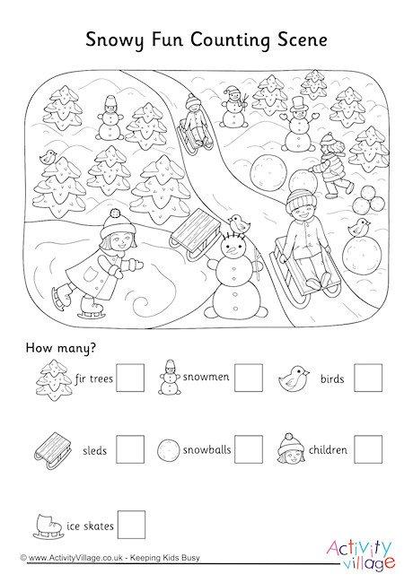 Fun Counting Scene Worksheet