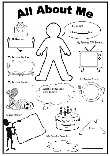 Getting To Know Yourself Worksheets Worksheets For All