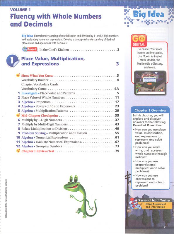 Go Math Grade 5 Printable Worksheets Worksheets For All