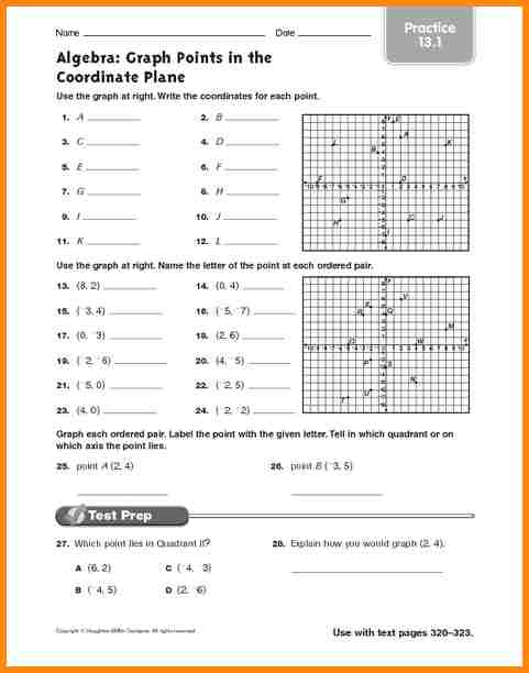 Graphing On A Coordinate Plane Worksheet Worksheets For All