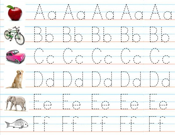 Handwriting Alphabet Letters Worksheets