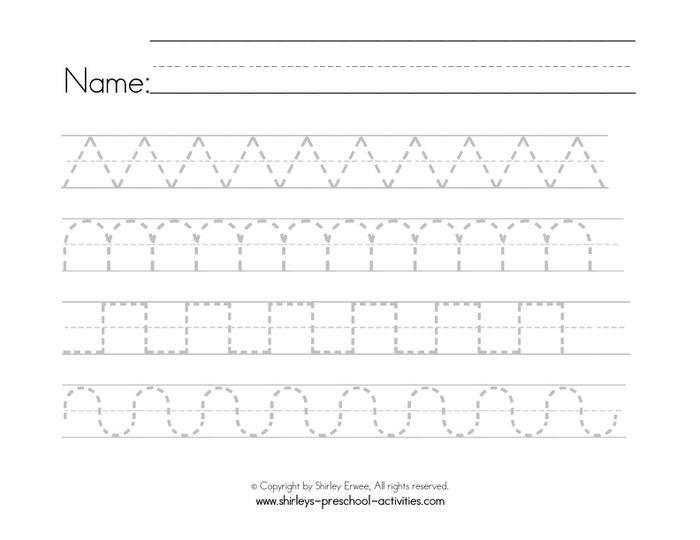 Handwriting Patterns Worksheets Writing Patterns Ideas