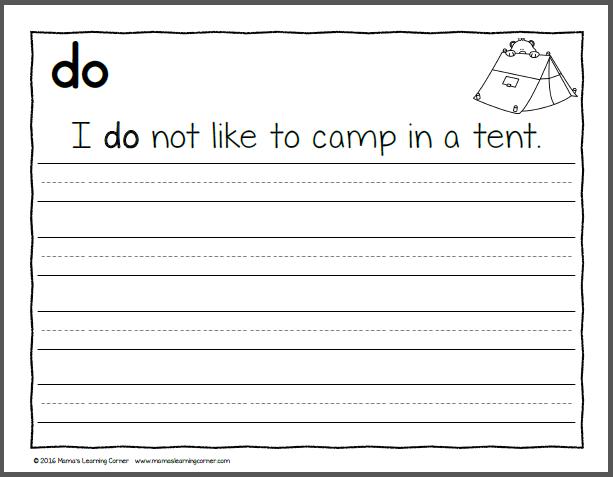 Handwriting Worksheets For Kids  Dolch Primer Words