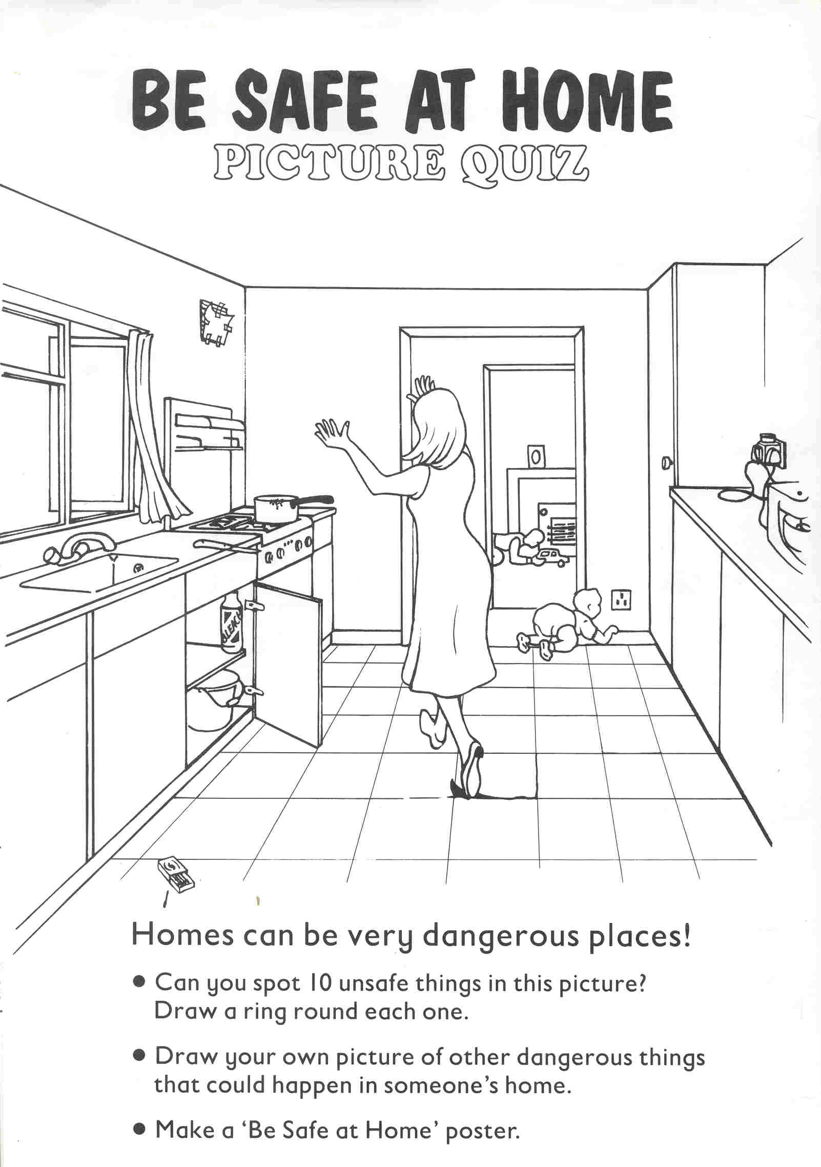 Hazards In The Home Worksheet  Teaching Students With Learning
