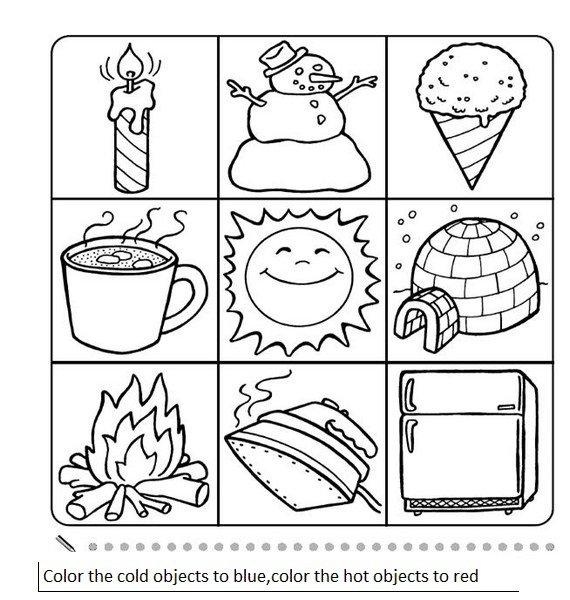 Hot And Cold Worksheets For Kindergarten