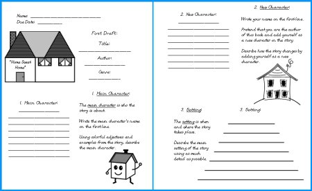 House Book Report Project  Templates, Worksheets, Grading Rubric