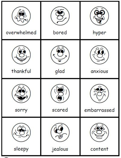 photo regarding Free Printable Pictures of Emotions called Thoughts Worksheets For Small children Absolutely free Printable