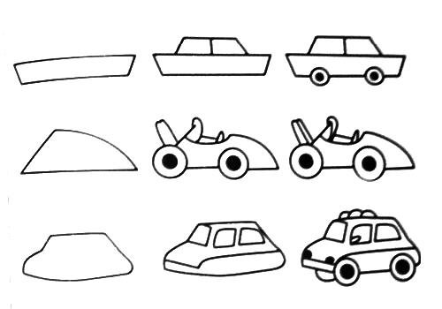 How To Teach Drawing To Kids Cars Step Step Drawing For Children