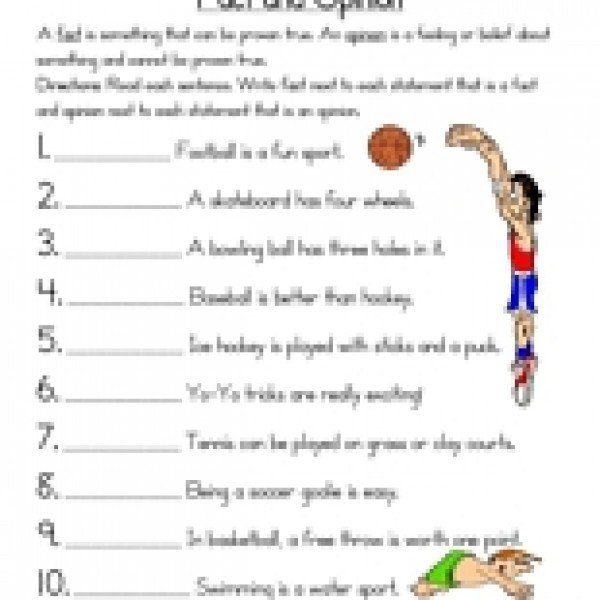Ideas Collection Fact Opinion Worksheets With Additional Example