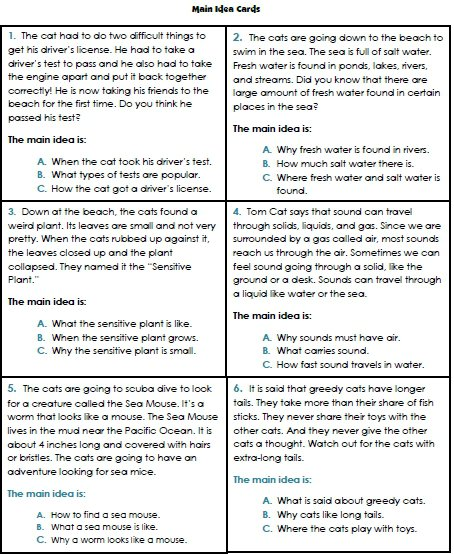 Identify Main Idea And Details Worksheets Grade 1 Worksheets For