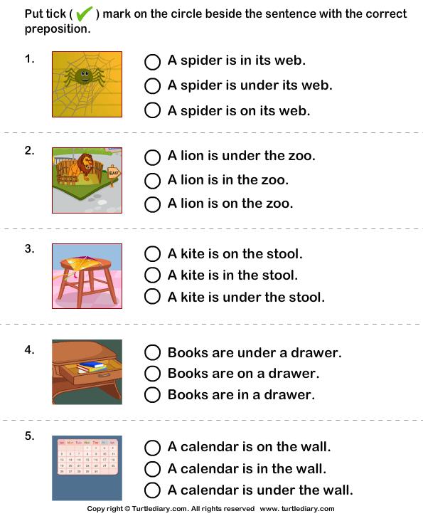 Impressive Worksheets For Grade 1 On Prepositions For Your Choose