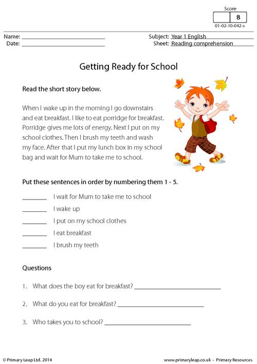 Interesting Free Worksheets For Year 1 Uk In Primaryleap Reading
