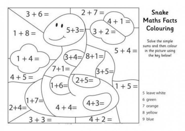 Interesting Kindergarten Addition Color By Number Worksheets Also
