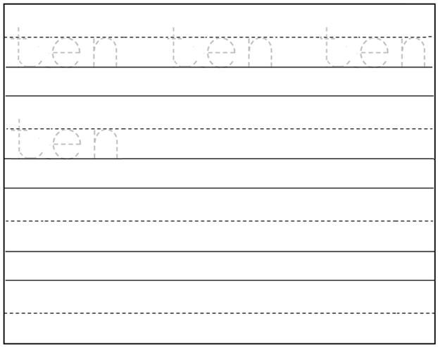 Kindergarten Handwriting Worksheets Free Printable Worksheets For