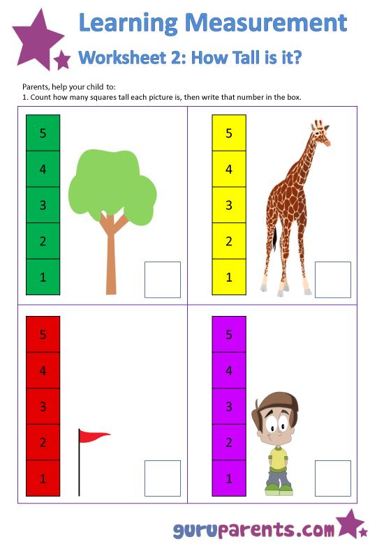 Kindergarten Measurement Worksheets Worksheets For All