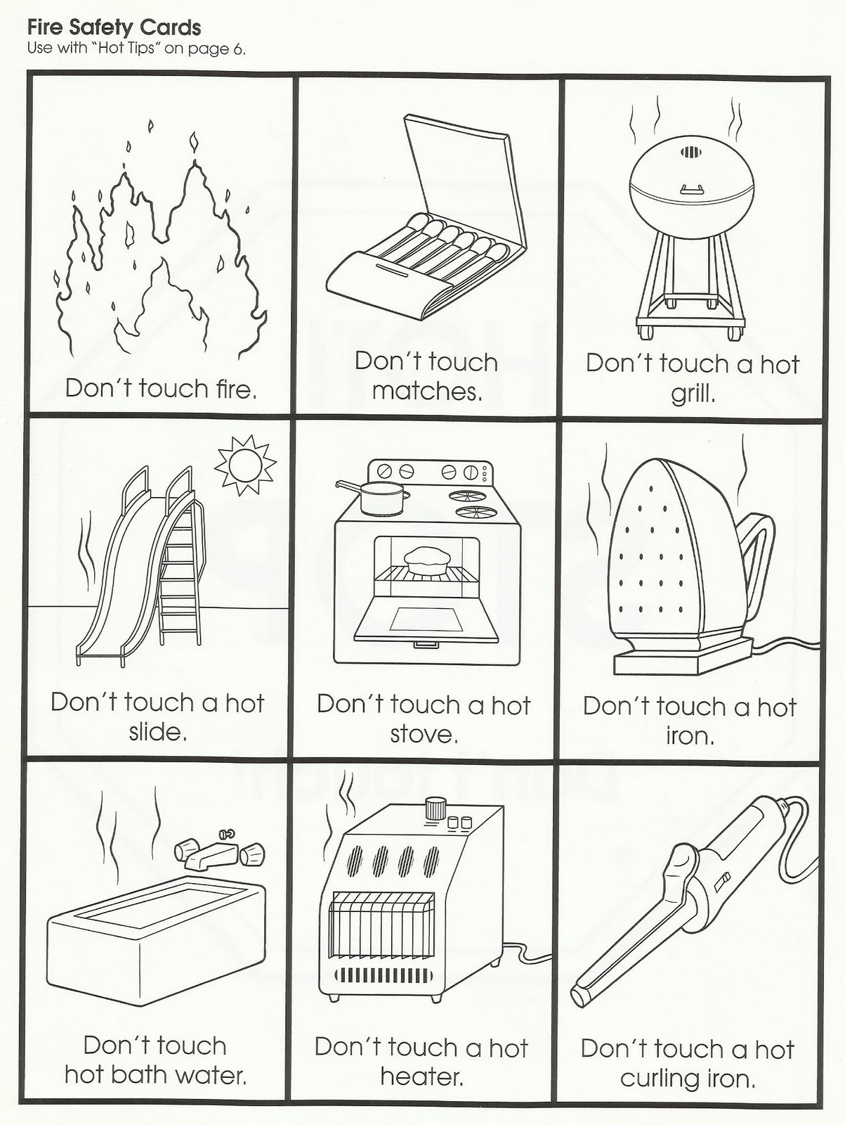 Kindergarten Worksheets And Games Free Fire Safety  Kindergarten