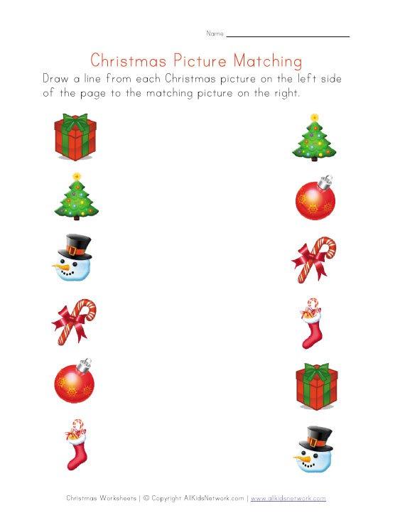La Escuela De Ingles De Eva  Christmas Picture Matching