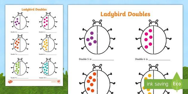 Ladybird Doubles To 20 Worksheet   Activity Sheet