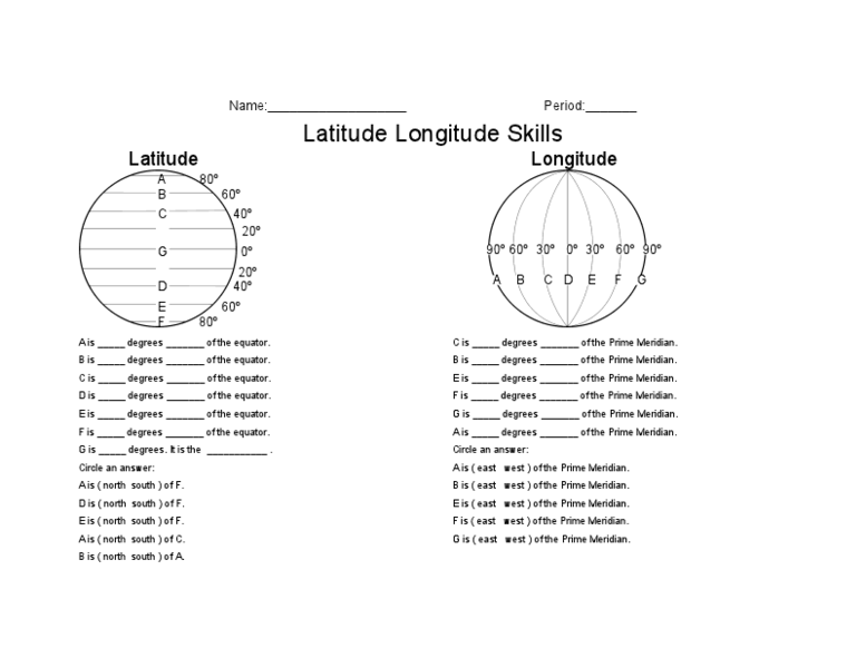 Latitude And Longitude Worksheets 3rd Grade Worksheets For All