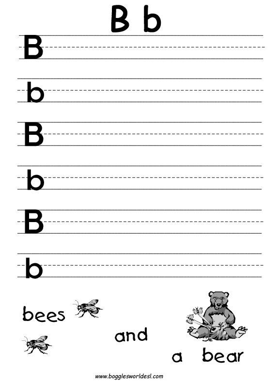Letter B Worksheets For Kindergarten Worksheets For All