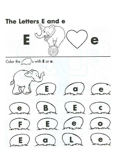 Letter E Worksheets For Preschoolers Worksheets For All