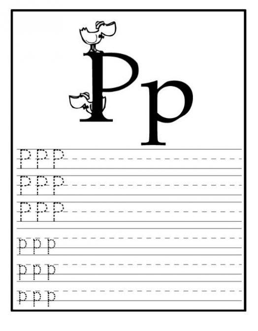 Letter P Worksheets For Preschoolers Worksheets For All