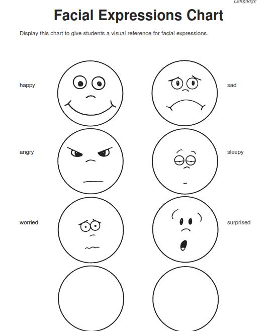 Lovely Free Printable Preschool Education Worksheets Feelings