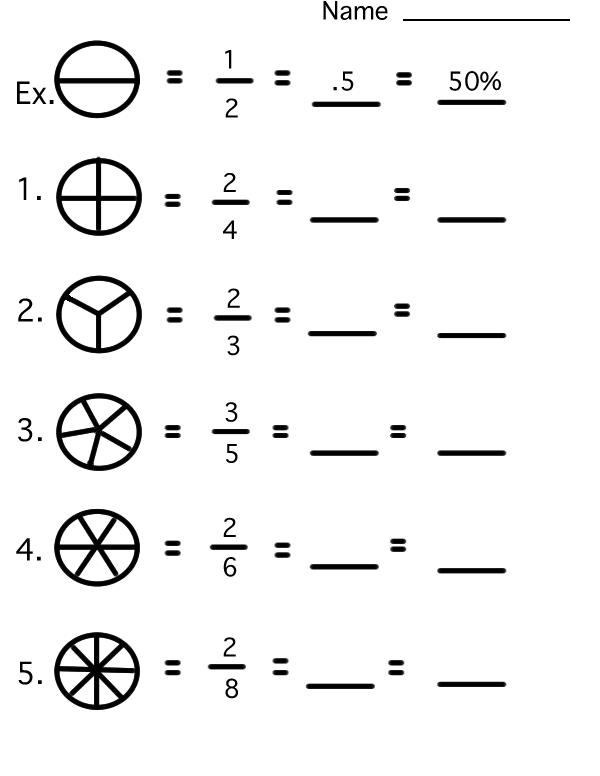 Math Fractions Worksheets Worksheets For All
