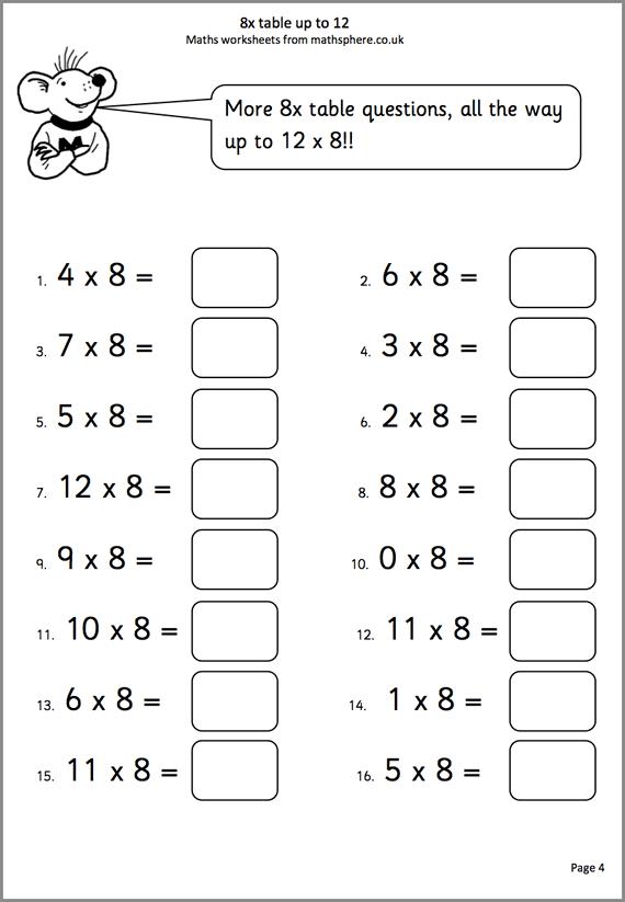 Math Worksheet For Grade 4 Worksheets For All