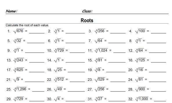 Maths Worksheets Year 10 Revision
