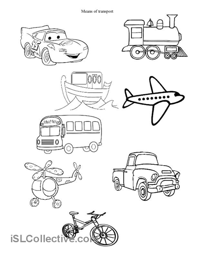Means Of Transport Worksheets For Preschoolers