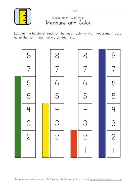 Measurement Worksheets For Kindergarten Worksheets For All