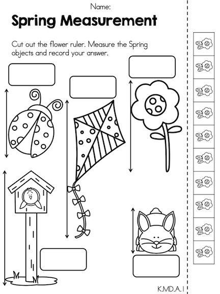 Measurement Worksheets Kindergarten Worksheets For All
