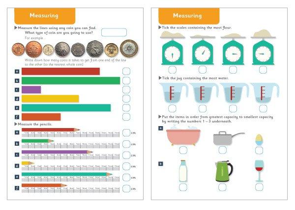 Measuring Maths Worksheets