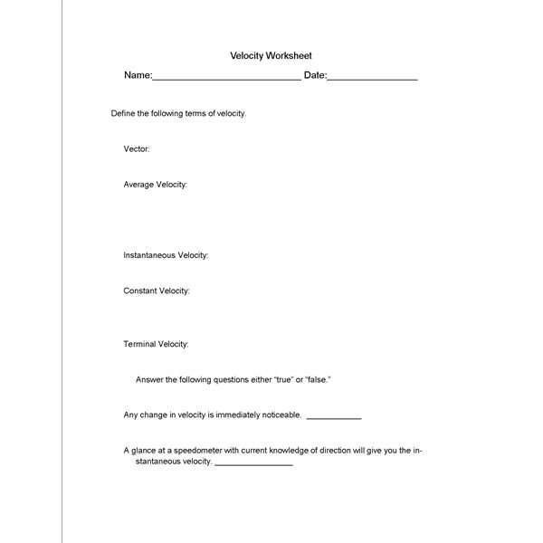 Middle School Physical Science Worksheets Worksheets For All