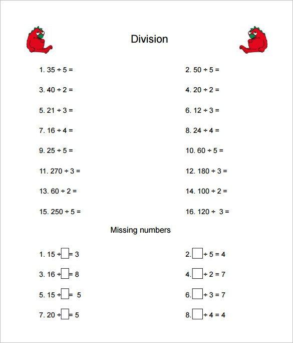 Multiplication Worksheets For Grade 4 Pdf Division Worksheets Pdf
