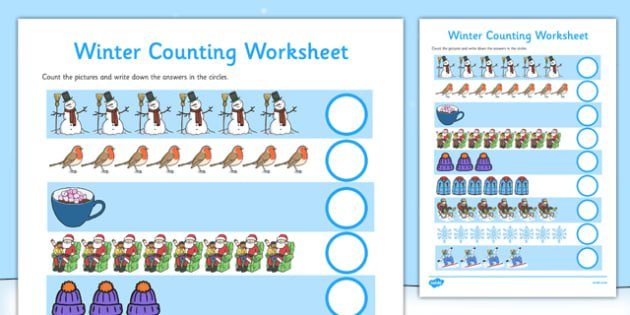 My Counting Worksheet (winter)