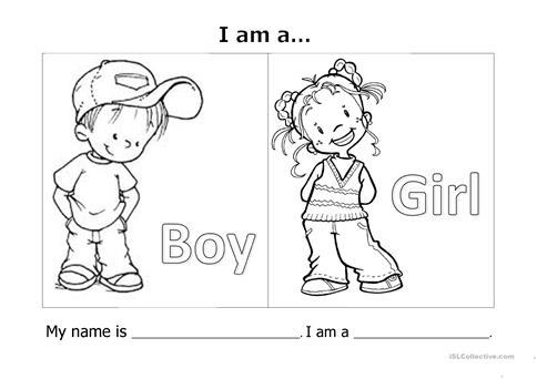 My Name Is  I'm A  Worksheet
