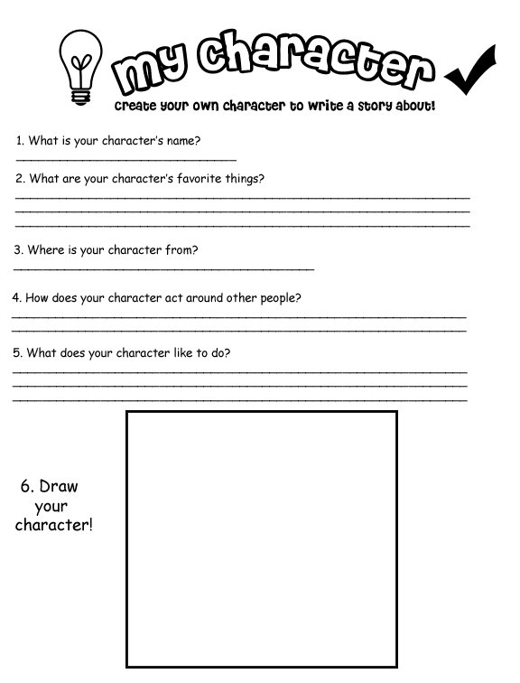 My Own Character' Worksheet By Kitskie On Deviantart