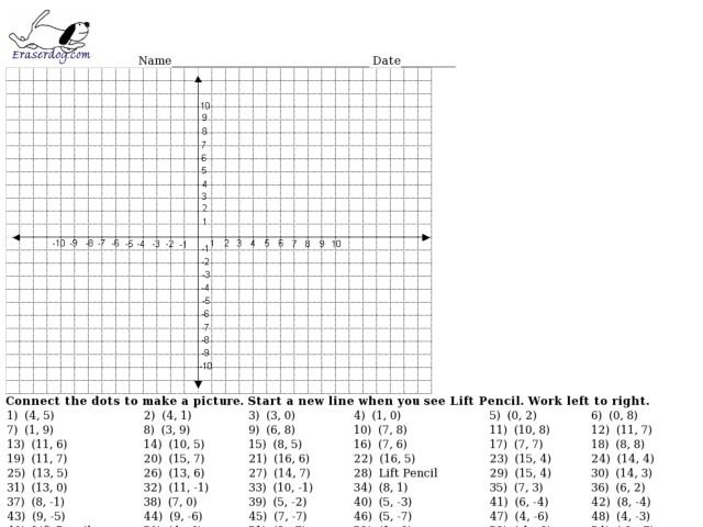 Mystery Graph Worksheets Free Worksheets For All