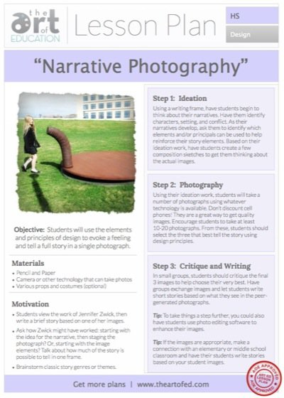 Narrative Photography  Free Lesson Plan Download
