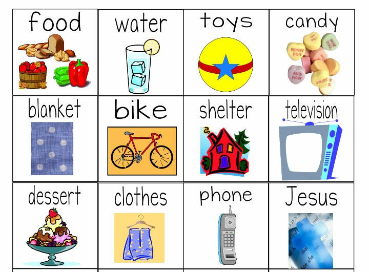 Needs Versus Wants  Worksheets & Object Lesson For Children