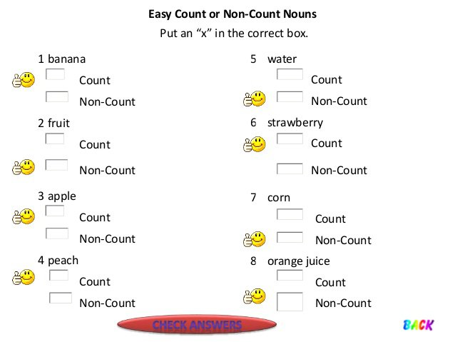 Noun Counters Worksheets For Grade 1